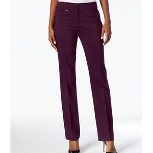 JM COLLECTION Petite Tummy-Control Curvy Fit Pants